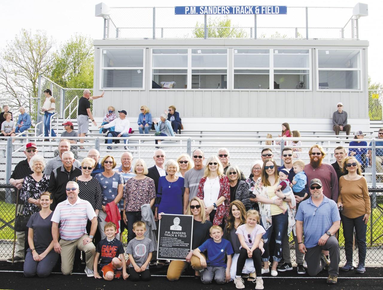 P.M. Sanders Track & Field Dedication